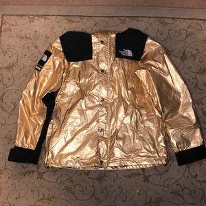 SupremexTNF Gold Metallic Jacket